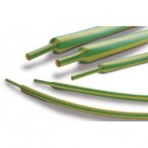 Diamètre 2.4/1.2 mm vert-jaune lot 10 manchons de 1.22 M