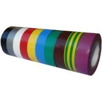 Ruban adhésif PVC couleur larg 19 mm long 20 m, lot de 10 rlx