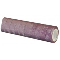 Ruban adhésif PVC violet larg 15 mm long 10 m, lot de 10 rlx