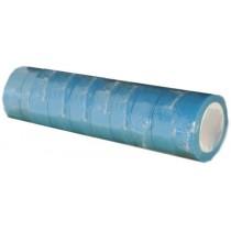 Ruban adhésif PVC bleu larg 15 mm long 10 m, lot de 10 rlx
