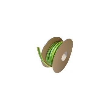 Diamètre 25.4/12.7 mm Bobine 30m vert-jaune