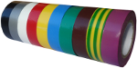 Ruban adhésif PVC couleur larg 15 mm long 10 m, lot de 10 rlx